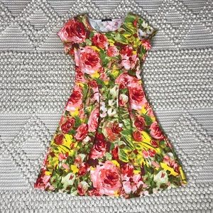 Papermoon | Floral Paint-like Pleated Dress
